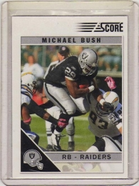2011 Score Michael Bush Glossy Card #212 MINT - Oakland Raiders