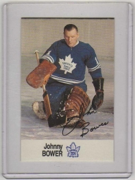 1988 Esso All-Star Johnny Bower Card #4 MINT - Toronto Maple Leafs