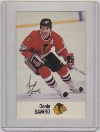 1988 Esso All-Star Denis Savard Card #40 MINT - Chicago Blackhawks