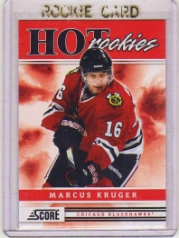 2011 Score Marcus Kruger Rookie Card #504 MINT - Chicago Blackhawks