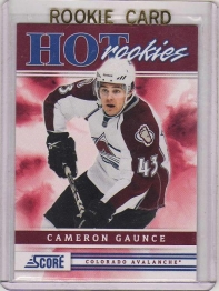2011 Score Cameron Gaunce Rookie Card #505 MINT - Colorado Avalanche