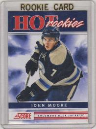 2011 Score John Moore Rookie Card #506 MINT - Columbus Bluejackets