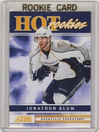 2011 Score Jonathon Blum Rookie Card #517 MINT - Nashville Predators