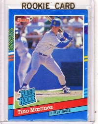 1991 Donruss  Tino Martinez Rookie Card #28 - Seattle Mariners