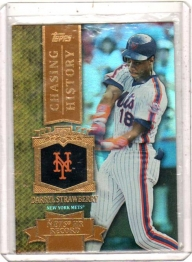 2013 Topps Chasing History Gold Foil Retail Darryl Strawberry  Card #CH-89 - New York Mets