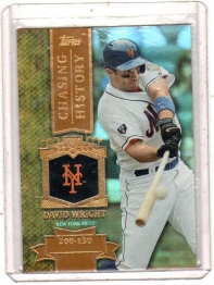2013 Topps Chasing History Gold Foil Retail David Wright  Card #CH-99 - New York Mets