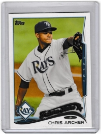 2014 Topps Base Set Series 2 Chris Archer  Card #383 - Tampa Bay Rays