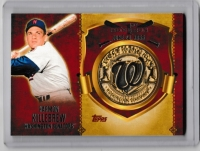 2015 Topps First Home Run Medallions Series 2 Harmon Killebrew  Card #FHRM-HK - Washington Senators
