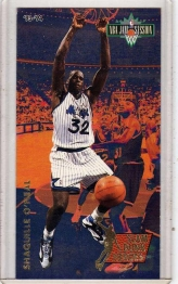 1993 Fleer NBA Jam Session Slam Dunk Heroes Shaquille O'neal  Card #7 - Orlando Magic