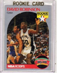 1990 NBA Hoops David Robinson Rookie Card #270 - San Antonio Spurs
