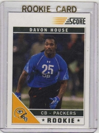 2011 Score Glossy Davon House Rookie Card #327 - Green Bay Packers