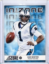 2012 Score In the Zone Glossy Cam Newton  Card #6 - Carolina Panthers