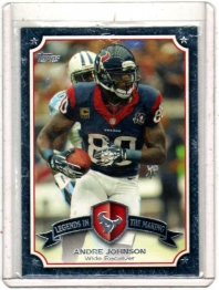 2013 Topps Legends in the Making Andre Johnson  Card #LM-AJ - Houston Texans