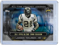 2015 Topps All-Time Fantasy Legends Ladainian Tomlinson  Card #ATFL-LT - San Diego Chargers