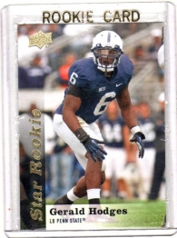 2013 Upper Deck  Gerald Hodges Rookie Card #78 - Penn State Nittany Lions