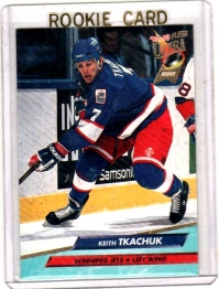 1992 Fleer Ultra Keith Tkachuk Rookie Card #446 - Winnipeg Jets
