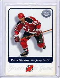 2001 Fleer Greats of the Game Peter Stastny  Card #11 - New Jersey Devils
