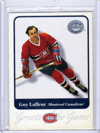 2001 Fleer Greats of the Game Guy Lafleur  Card #8 - Montreal Canadiens