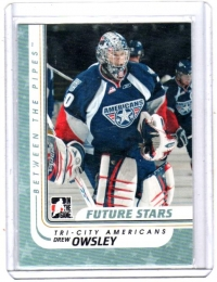 2010 In the Game Between the Pipes Drew Owsley  Card #10 - Tri City Americans