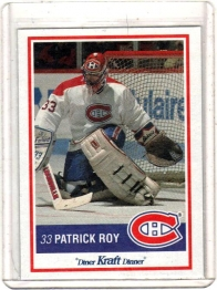 1990 Kraft  Patrick Roy  Card #49 - Montreal Canadiens