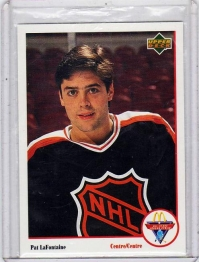 1991 Mcdonalds All Stars Pat Lafontaine  Card #6 - Wales Conference