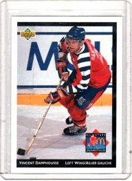 1992 Mcdonalds All Stars Vincent Damphousse  Card #4 - Edmonton Oilers