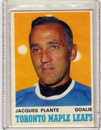 1970 O-Pee-Chee  Jacques Plante  Card #222 - Toronto Maple Leafs