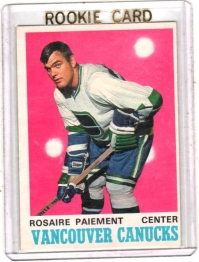 1970 O-Pee-Chee  Rosaire Paiement  Card #226 - Vancouver Canucks