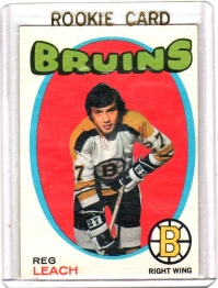 1971 O-Pee-Chee  Reggie Leach Rookie Card #175 - Boston Bruins