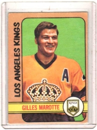 1972 O-Pee-Chee  Gilles Marotte  Card #27 - Los Angeles Kings