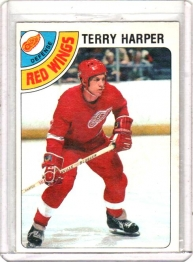 1978 O-Pee-Chee  Terry Harper  Card #214 - Detroit Red Wings