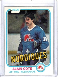 1981 O-Pee-Chee  Alain Cote  Card #272 - Quebec Nordiques