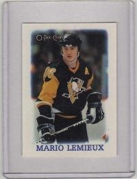 1988 O-Pee-Chee Minis Mario Lemieux  Card #19 - Pittsburgh Penguins
