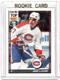 1991 O-Pee-Chee  John Leclair Rookie Card #209 - Montreal Canadiens