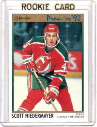 1991 O-Pee-Chee Premier Scott Niedermayer Rookie Card #35 - New Jersey Devils