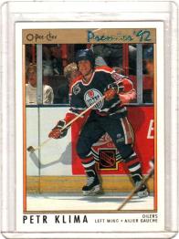 1991 O-Pee-Chee Premier Petr Klima  Card #61 - Edmonton Oilers