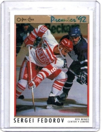 1991 O-Pee-Chee Premier Sergei Fedorov  Card #68 - Detroit Red Wings