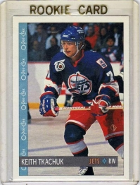 1992 O-Pee-Chee  Keith Tkachuk Rookie Card #346 - Winnipeg Jets