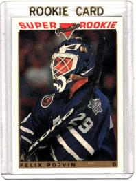 1993 O-Pee-Chee Premier Felix Potvin Rookie Card #126 - Toronto Maple Leafs
