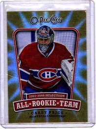 2008 O-Pee-Chee All-Rookie Team Carey Price  Card #ARTCP - Montreal Canadiens