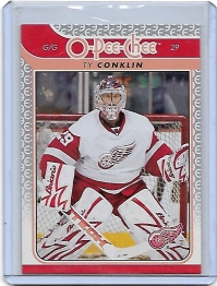 2009 O-Pee-Chee  Ty Conklin  Card #26 - Detroit Red Wings