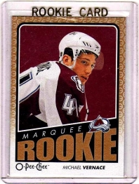 2009 O-Pee-Chee  Michael Vernace Rookie Card #520 - Colorado Avalanche