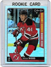 2016 O-Pee-Chee Rainbow Miles Wood Rookie Card #596 - New Jersey Devils