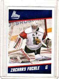 2012 Post  Zachary Fucale  Card #3 - Halifax Mooseheads