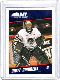 2012 Post  Matt Mahalak  Card #8 - Plymouth Whalers