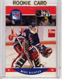 1990 Pro Set  Mike Richter Rookie Card #627 - New York Rangers