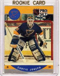 1990 Pro Set Curtis Joseph Rookie Card 638 St Louis Blues
