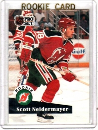 1991 Pro Set  Scott Niedermayer Rookie Card #547 - New Jersey Devils