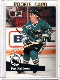1991 Pro Set  Pat Falloon Rookie Card #558 - San Jose Sharks