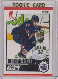 2010 Score Rookies and Traded Jordan Eberle Card #566 - Edmonton Oilers